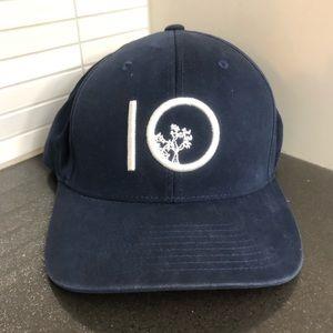 tentree navy flexfit logo baseball hat